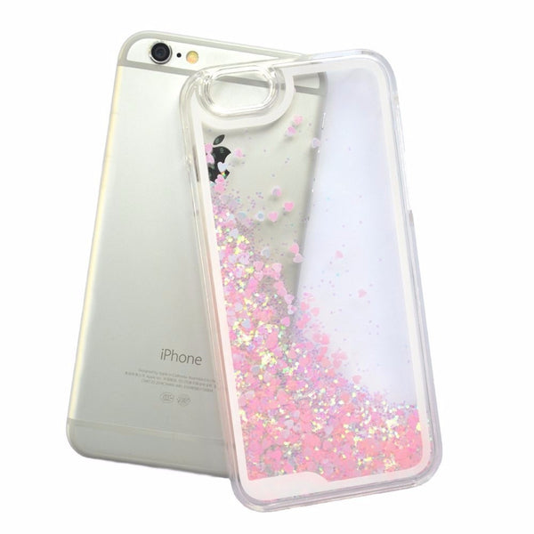 Glitter Floating Sparkle Love Case Cover for iPhone 6