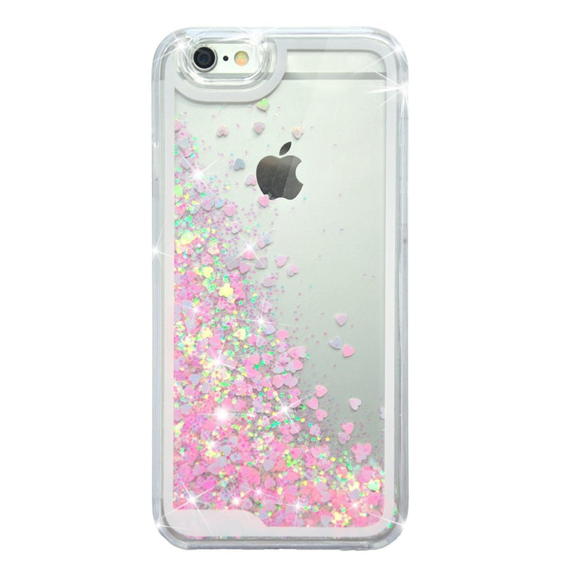 Glitter Floating Sparkle Love Case Cover for iPhone 6 Accessories - Korean Fashion