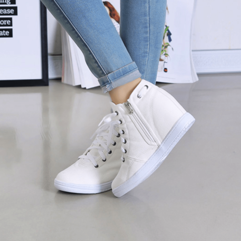 Spring Lace-up Sneakers Women's Shoes - Korean Fashion