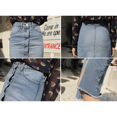 Cropped Denim Skirt