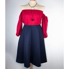 Korean Fashion - Shoes and Clothing - Circle Balloon Skirt - Bottoms - Free Size / Navy Blue - Gangnam Styles - 1