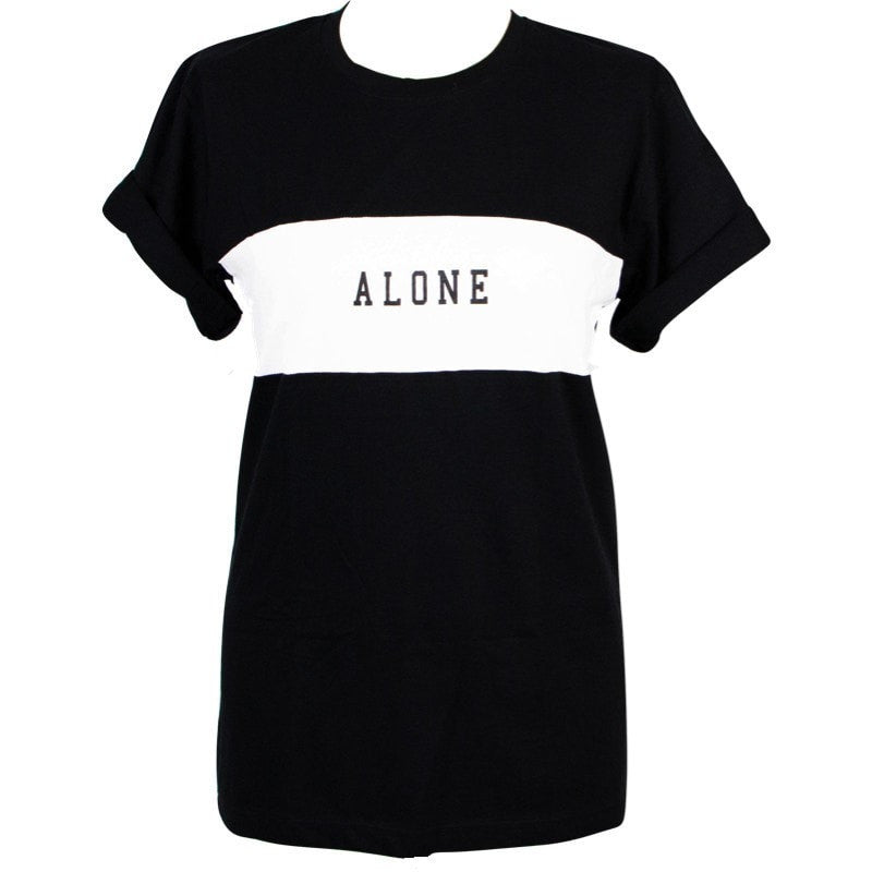 'Alone' T-Shirt Women's Clothing - Korean Fashion