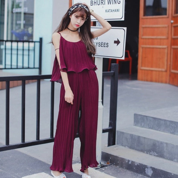 Chiffon Jumpsuit Strap Dress