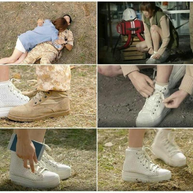 Descendants of the sun - High Top running shoe sneakers - Running shoes - Korean Shoes