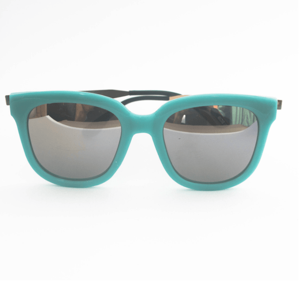 Turquoise Silver Mirror Sunglasses