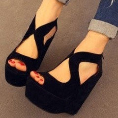 Sexy Wedge Sandals Women's Shoes - Korean Fashion
