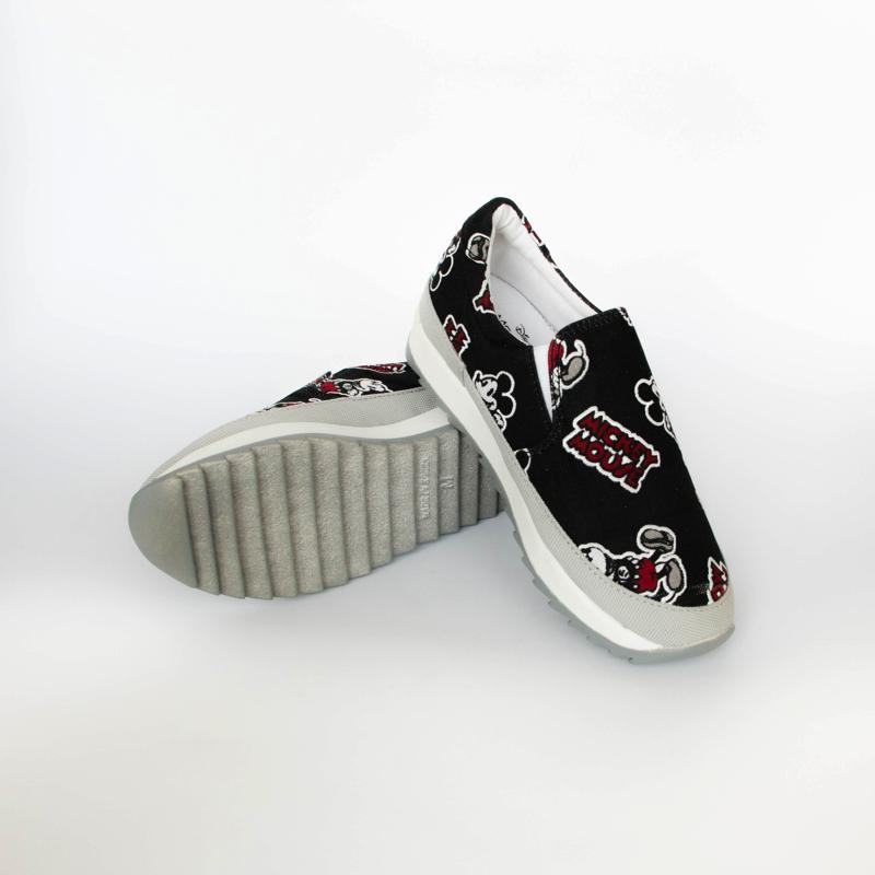 Mickey Mouse Cartoon Loafers Loafers - Korean Fashion