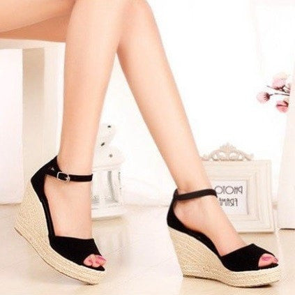 Summer Wedge Sandals Women's Shoes - Korean Fashion