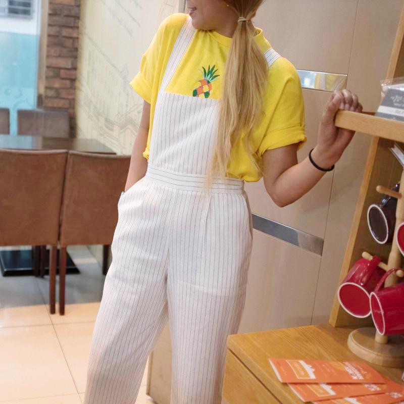 Carpenter Jumper Pants Dress - Korean Fashion