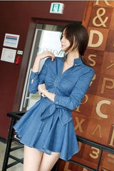 Korean Fashion - Shoes and Clothing - Casual Denim Dress - Casual Dress -  - Gangnam Styles - 2