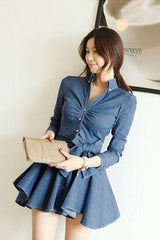 Korean Fashion - Shoes and Clothing - Casual Denim Dress - Casual Dress -  - Gangnam Styles - 3