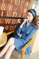 Korean Fashion - Shoes and Clothing - Casual Denim Dress - Casual Dress -  - Gangnam Styles - 4