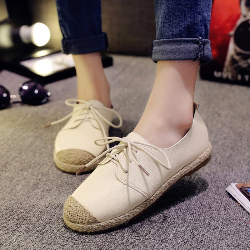 Rustic Casual Flat Shoes Women's Shoes - Korean Fashion