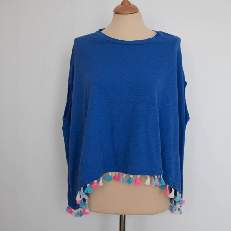 Coverup Pompom Beach Top Top - Korean Fashion