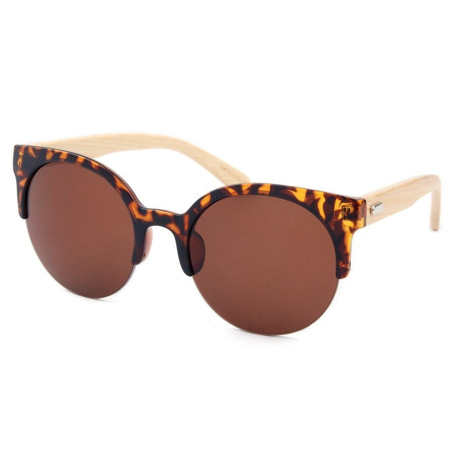 Korean Fashion - Shoes and Clothing - Urban Wild Bamboo Sunglasses - Sunglasses - Brown Lens - Gangnam Styles - 10