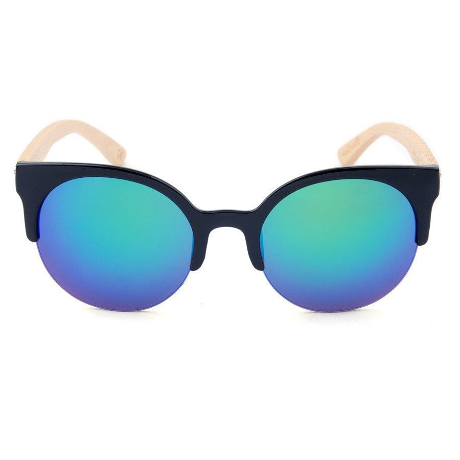 Korean Fashion - Shoes and Clothing - Urban Wild Bamboo Sunglasses - Sunglasses - Gradient Blue Lens - Gangnam Styles - 7