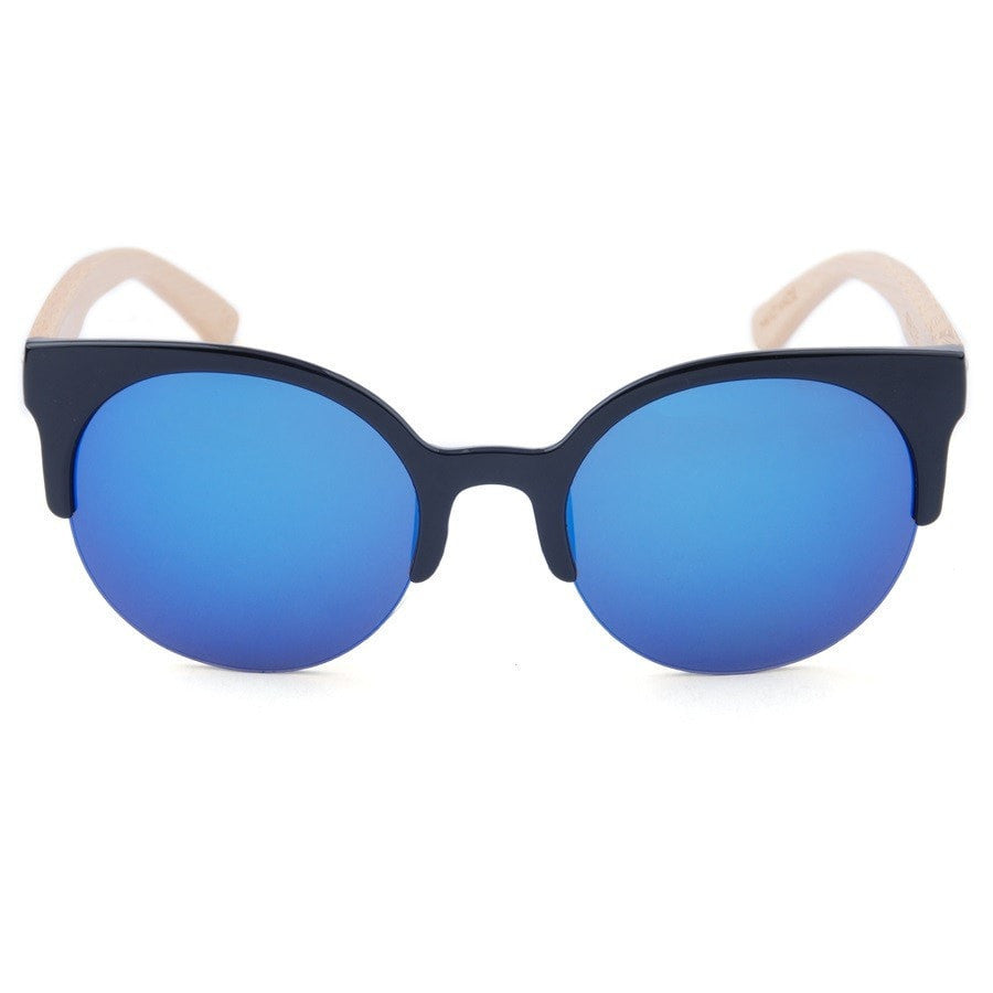Korean Fashion - Shoes and Clothing - Urban Wild Bamboo Sunglasses - Sunglasses - Blue Lens - Gangnam Styles - 12