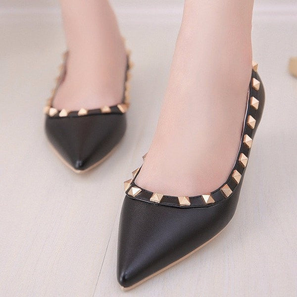 Korean Fashion - Shoes and Clothing - Elegant Matte Flat Shoes - Shoes -  - Gangnam Styles - 5