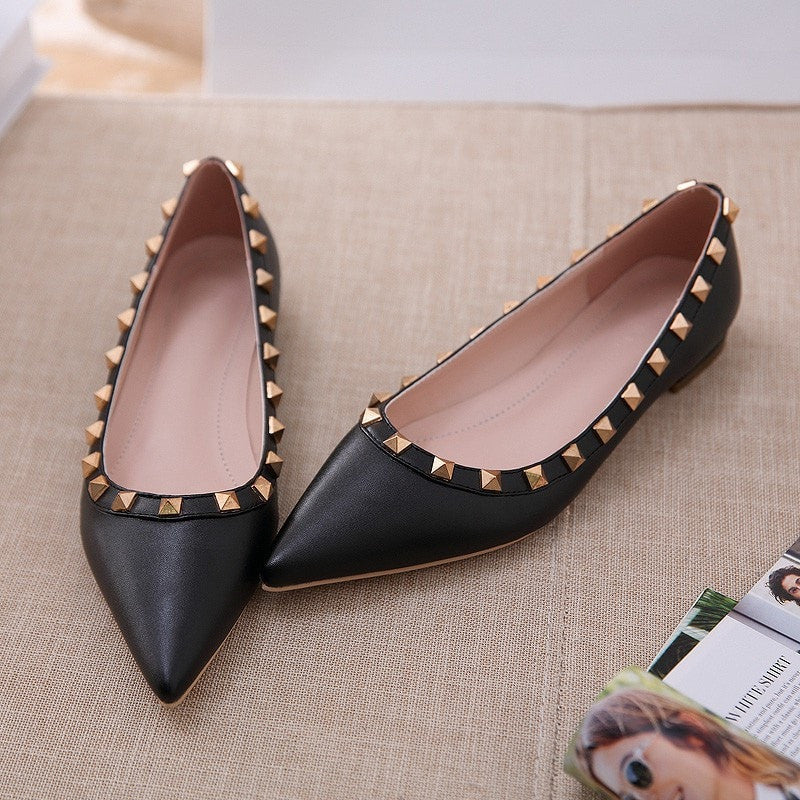 Korean Fashion - Shoes and Clothing - Elegant Matte Flat Shoes - Shoes -  - Gangnam Styles - 4