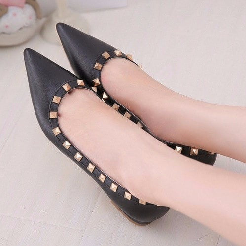 Korean Fashion - Shoes and Clothing - Elegant Matte Flat Shoes - Shoes -  - Gangnam Styles - 1