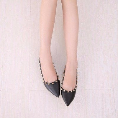 Korean Fashion - Shoes and Clothing - Elegant Matte Flat Shoes - Shoes -  - Gangnam Styles - 2