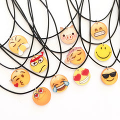 Korean Fashion - Shoes and Clothing - Cartoon Emoji Charm Necklace - Necklace -  - Gangnam Styles - 4