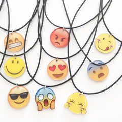 Korean Fashion - Shoes and Clothing - Cartoon Emoji Charm Necklace - Necklace -  - Gangnam Styles - 2