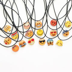 Korean Fashion - Shoes and Clothing - Cartoon Emoji Charm Necklace - Necklace -  - Gangnam Styles - 3