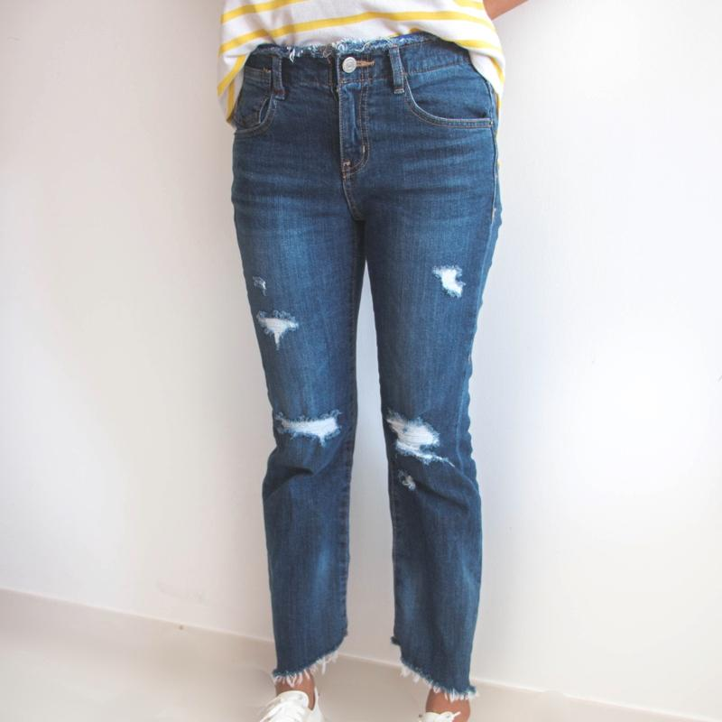 Flared Mid-Rise Jeans Jeans - Korean Fashion