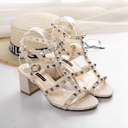 Gladiator Buckle Strap Sandals Women's Shoes - Korean Fashion
