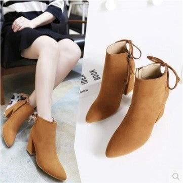Seoul Grand Prix Boots Women's Shoes - Korean Fashion