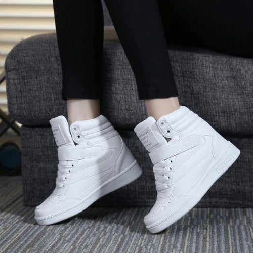 High Top Wedge Sneakers Shoes