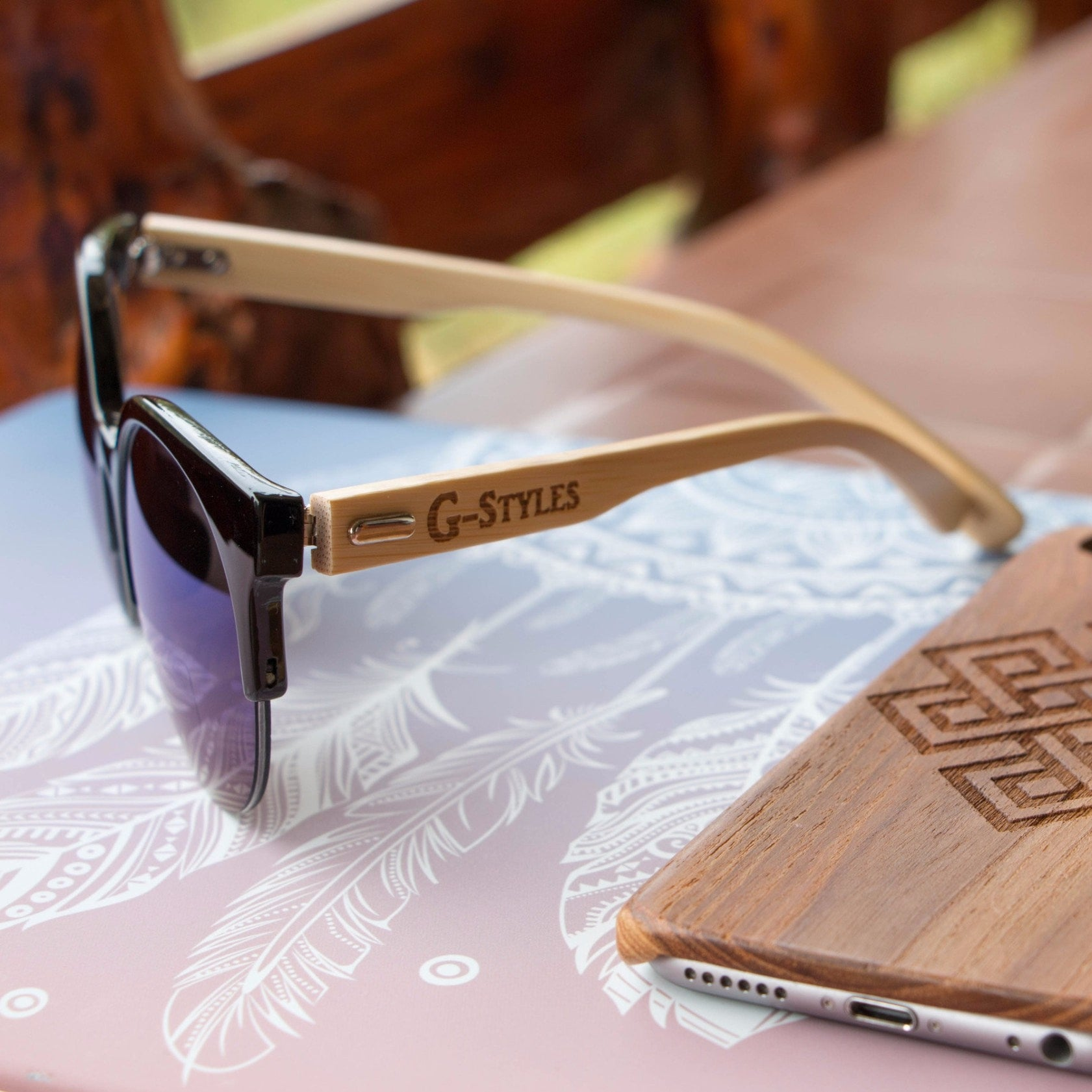 Korean Fashion - Shoes and Clothing - Urban Wild Bamboo Sunglasses - Sunglasses -  - Gangnam Styles - 3