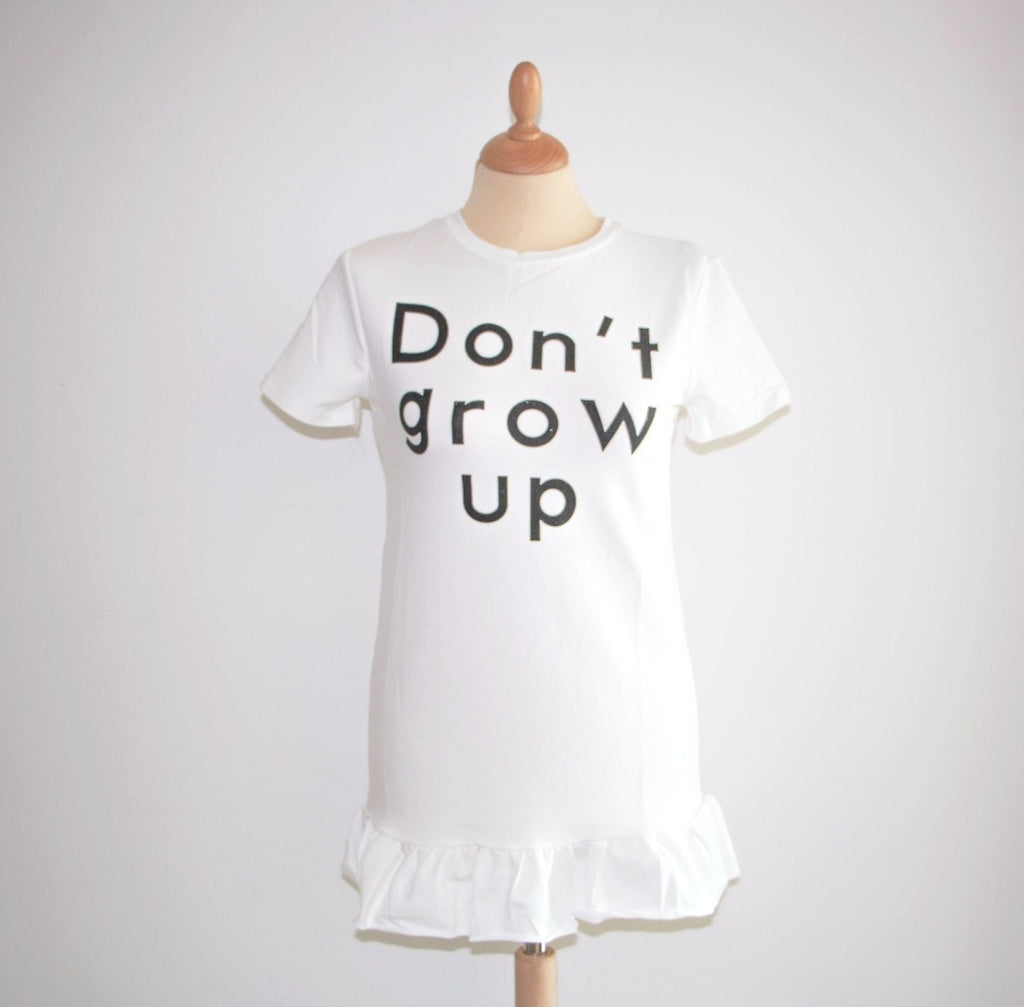 Don't Grow Up Mini Balloon Dress Dress - Korean Fashion