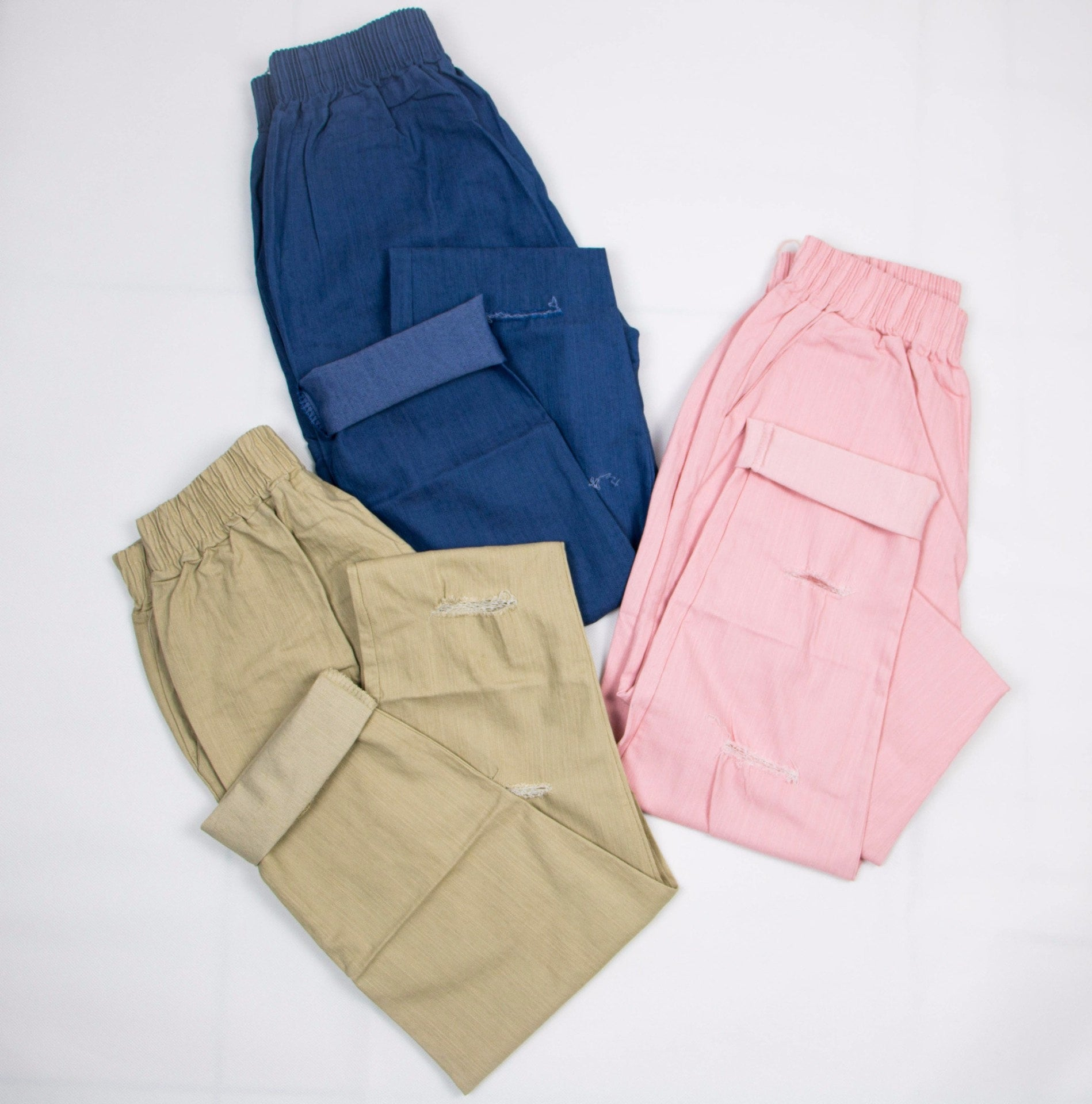 Korean Fashion - Shoes and Clothing - Baggy Jogger Sweatpants - Bottoms - Free Size / Khaki - Gangnam Styles - 4