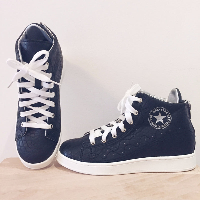 Hidden Wedge Star Sneakers Women's Shoes - Korean Fashion