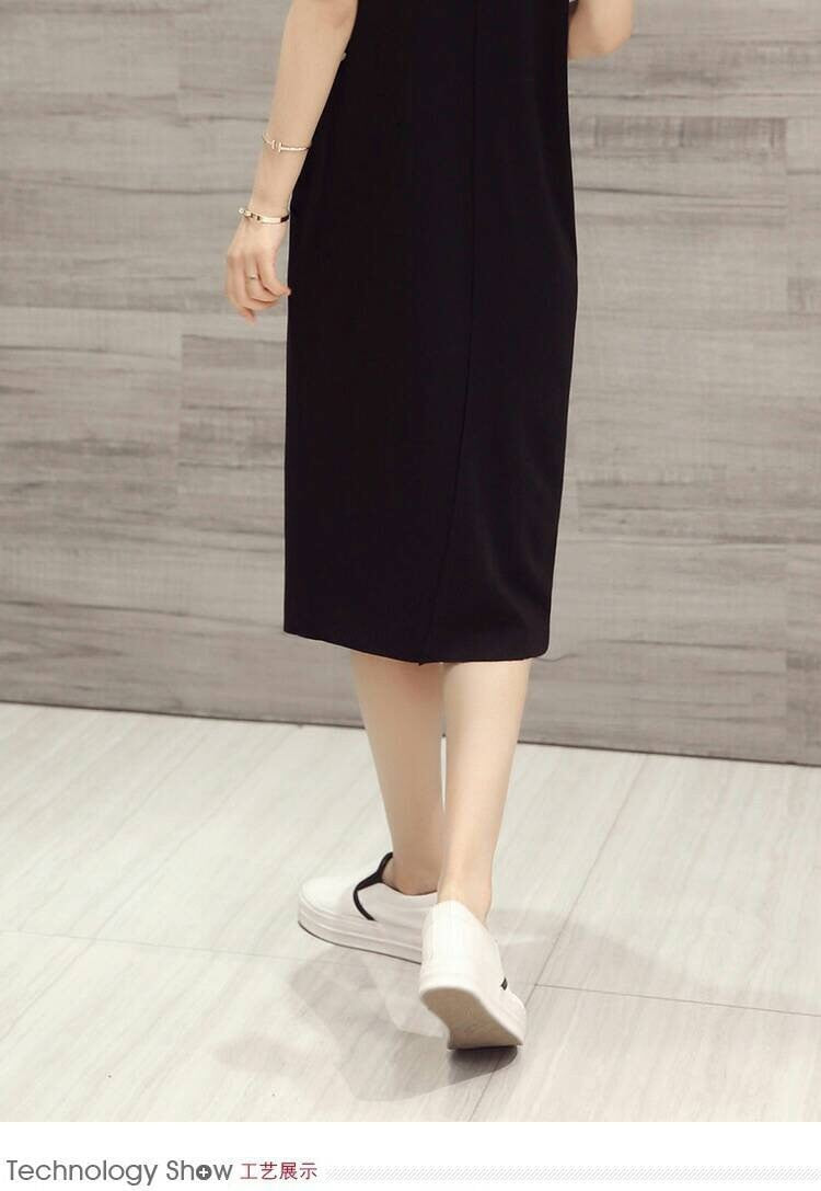 Set Jumper Skirt and Plain Shirt Set Dress - Korean Fashion