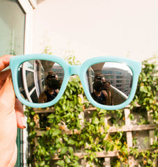 Korean Fashion - Shoes and Clothing - Turquoise Silver Mirror Sunglasses - Sunglasses -  - Gangnam Styles - 3