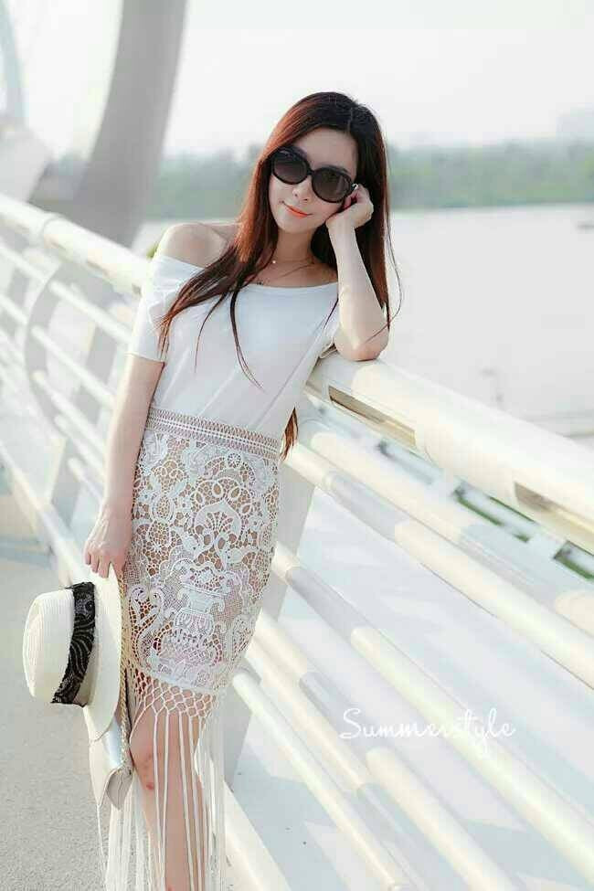 Set Embroidery Skirt And Shirt Set Dress - Korean Fashion
