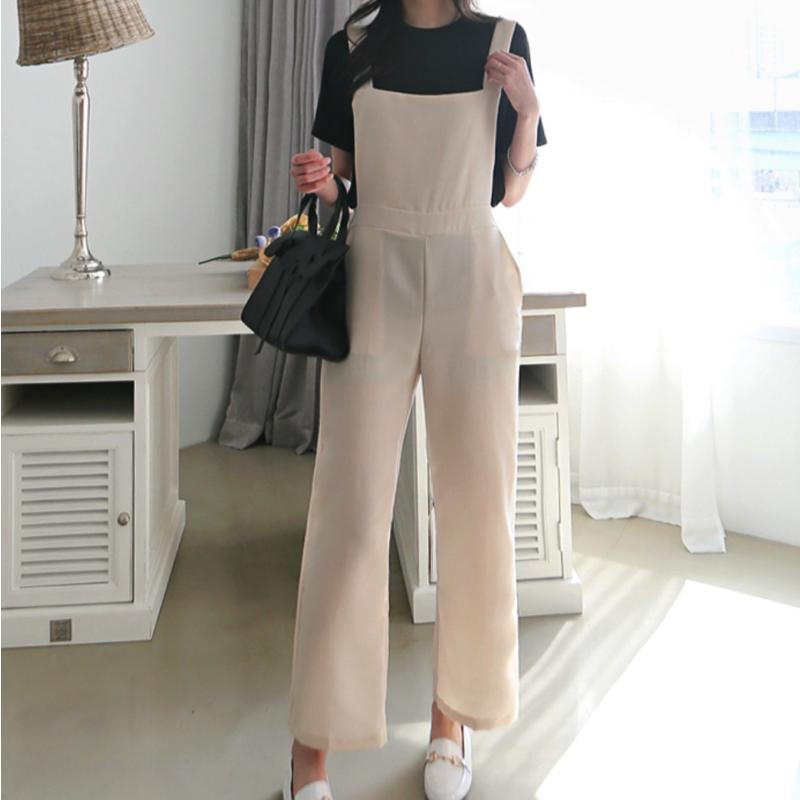 Jumper Suit Pants Bottoms - Korean Fashion