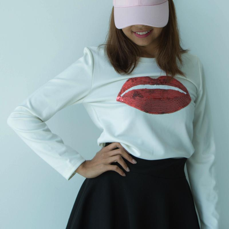 Lips Sweater Sweater - Korean Fashion