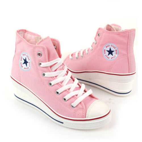 Korean Fashion - Shoes and Clothing - Korean Low-Back Platform Wedge Sneakers - Women's Sneakers