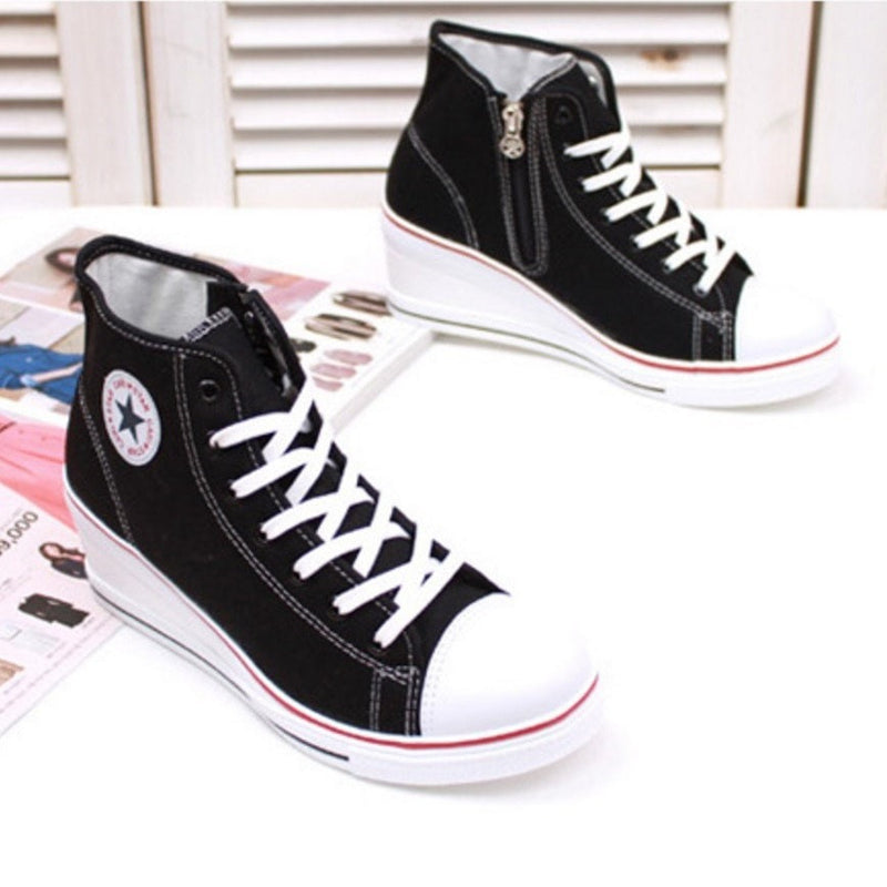 Korean Low-Back Wedge Sneakers Women's Shoes - Korean Fashion