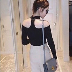 Korean Fashion - Shoes and Clothing - Choker Off Shoulder Top - Top Dress -  - Gangnam Styles - 10