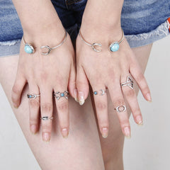 Korean Fashion - Shoes and Clothing - 6 Piece Geometric Ring Set - Rings -  - Gangnam Styles - 3