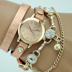 Korean Fashion - Shoes and Clothing - Dutchess Quartz Jewelery Watch - Watch - Pink - Gangnam Styles - 2
