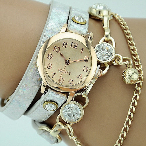 Korean Fashion - Shoes and Clothing - Dutchess Quartz Jewelery Watch - Watch - White - Gangnam Styles - 1