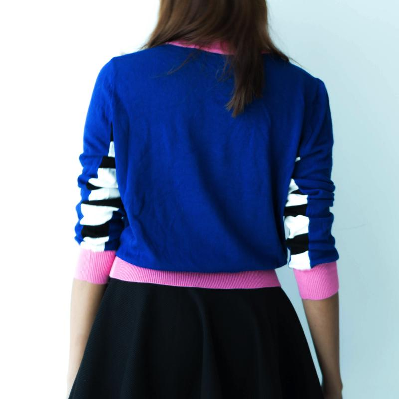 Pineapple Spangle Knit Sweater - Korean Fashion