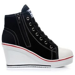 Korean Fashion - Shoes and Clothing - Platform Wedge Sneakers - Wedge Sneakers -  - Gangnam Styles - 9