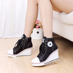 Korean Fashion - Shoes and Clothing - Platform Wedge Sneakers - Wedge Sneakers -  - Gangnam Styles - 1